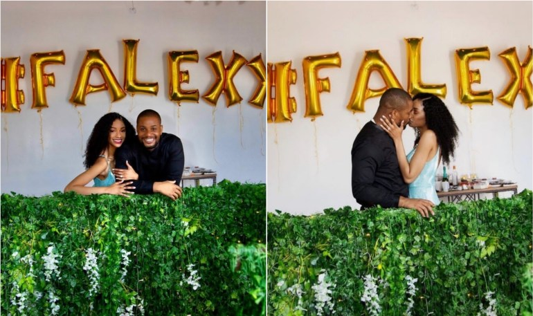 Alexx Ekubo And Fiancee, Fancy Acholonu, Have Been Dating For Five Years, Says She's Made Him A Better Man (Video)